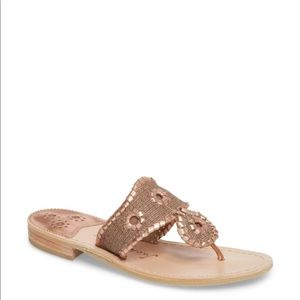 NEW • Jack Rogers • Isla Thong Sandals Rose Gold 5